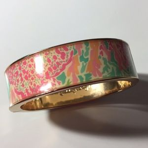 Lilly Pulitzer Bangle Bracelet Gold Coral